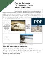 SAC Unit 4 Outcome 2 Part a - Revision Answer Sheet