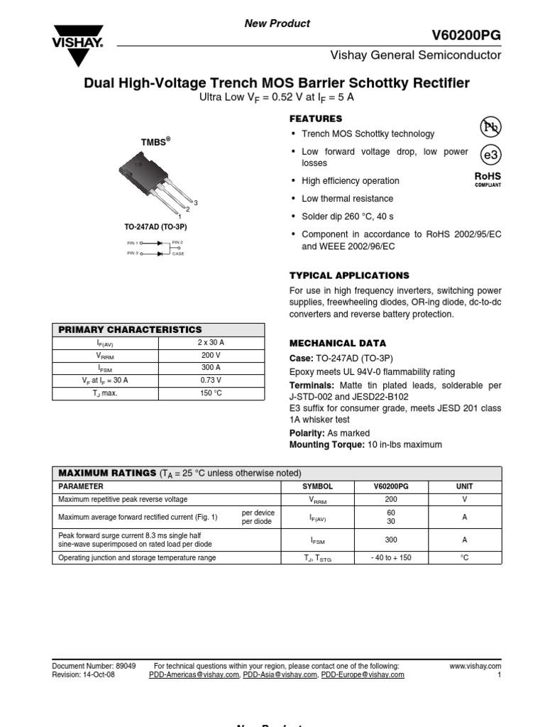 V60200PG | Diode | Rectifier