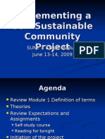 Implementing a Self-Sustainable Community Project 2