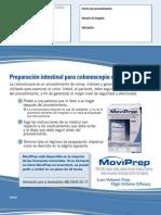 Preparación intestinal para colonoscopia con MoviPrep