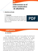 Procesos constructivos Albañileria