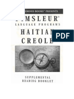 Pimsleur - Haitian Creole - Reading Booklet