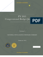 Spy Budget Fy13US Spy Budget FY2013 Vol 1 /WaPo Updated August 29, 2013