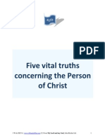 Five Vital Truths Concerning the Person of Christ