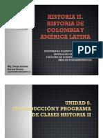 Cronograma de Sesiones y Exposiciones Historia II