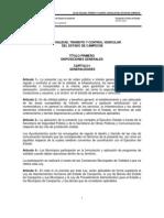 Ley de Vialidad Transito y Control Vehicular Del Estado de Campeche