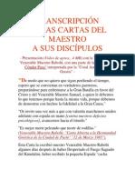 Transcripcion de Las Cartas Del Maestro a Sus Discipulos,