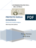 Informe Huella Ecológica