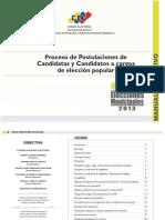 Manual de Postulacion Municipales 2013