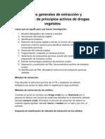 Métodos generales de extracción y purificación de principios activos de drogas vegetales