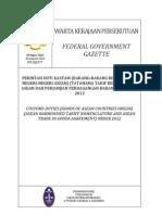 AHTN 2012 -Latest Perintah Duti