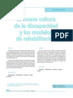 La Nueva Cultua de La Discapacidad y Los Modelos de Reh