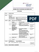 ColorenlasArtes2013 Programa Actualizado