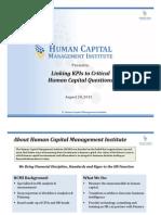 Linking KPIs to Critical Human Capital Questions Webinar