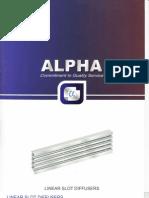 Alpha Linear Slot Diffusers