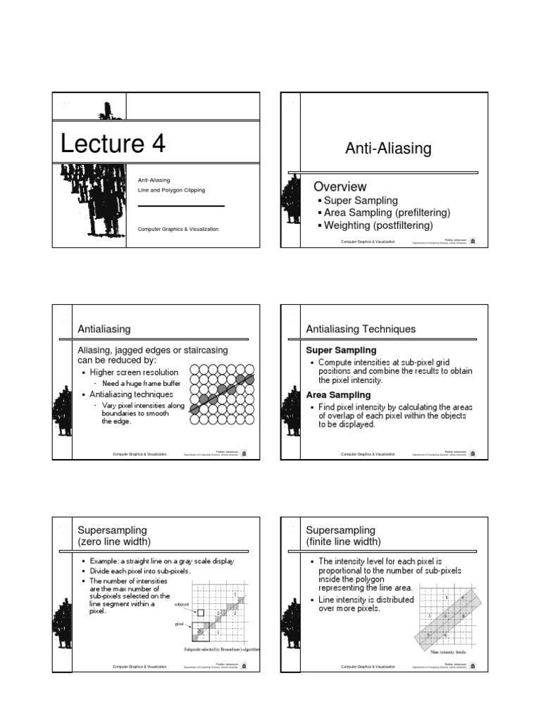 aliasing and anti aliasing1 pdf | Pixel | Graphics