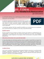 Information Filière Le B.T.S. Hôtellerie & Restauration