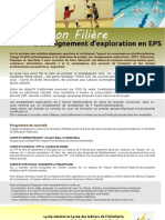 Information Filière Enseignement d'exploration en EPS