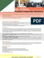 Information Filière Première Passerelle Hôtellerie