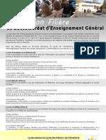 Information Filière Baccalauréat d'Enseignement Général