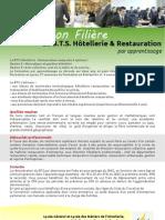 Présentation filière B.T.S. Hôtellerie & Restauration par apprentissage