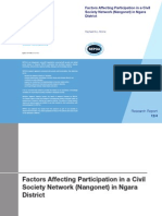 Factors Affecting Participation in a Civil Society Network (Nangonet) in Ngara District