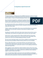 Basel Reconsiders Its Regulatory Capital Framework