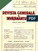 Revista generală a Învăţământului, anul XX, nr.7-8