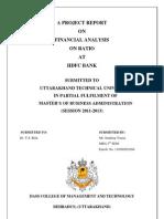 Financial Analysis at Hdfc contact n