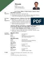 M Shahadat Hossain (Dipto)_Resume 2013