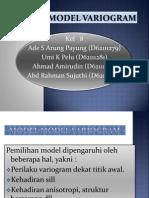 Model – model Variogram