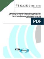 TS 102 250-3 - V2.2.1