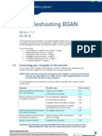 Troubleshooting BGAN