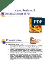 Lecture 10 Romanticism, Realism, & Impressionism in Art