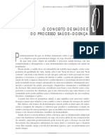 O CONCEITO DE SAÚDE E DO PROCESSO SAÚDE–DOENÇA