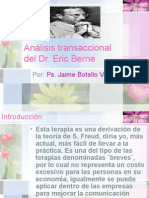 Análisis transaccional. Ps. Jaime Botello Valle