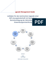 SAP Upgrade Management Guide