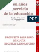 Propuesta de Cuota para UHS y escuelas laboratorios UPR
