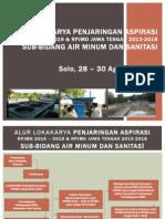 Alur Lokakarya Penjaringan Aspirasi RPJMN 2014-2019 dan RPJMD Jateng 2013-2017 bidang Air minum dan Sanitasi