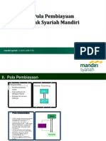 Pola Pembiayaan Bank Syariah Mandiri