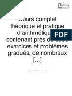 Allan Kardec - Cours complet théorique et pratique d'arithmétique contenant près de 3000 exercices