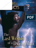 March, April 2003 [the Last Words of a Dying Man]