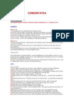 Textele Studiului 12 - Comunitatea