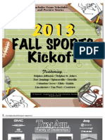 Delphos Fall Sports Preview 2013
