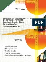 Tutoria y Moderacion de Grupos en Entornos Virtuales
