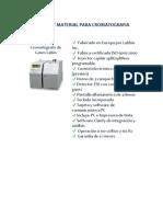 equipos de cromatografía