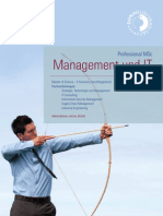 "Studienprogramm ""Professional MSc Management und IT"" - Donau-Universität Krems"