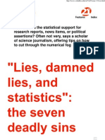 The Seven Deadly Statistical Sins