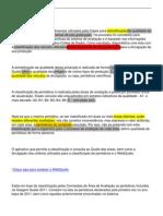 Avaliação qualis - página na internet