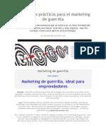 10 consejos prácticos para el marketing de guerrilla